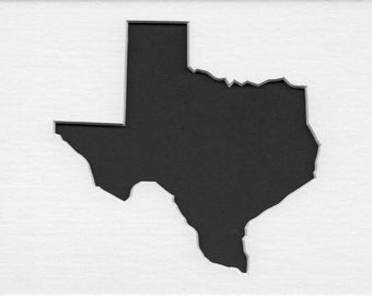 Pack of 3 Texas State Stencils, Made from 4 Ply Mat Board 18x24, 16x20 and 11x14 -Package includes One of Each Size