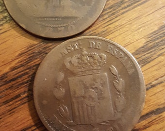 Spain 10 Centimo  Lot of 2   *1mar