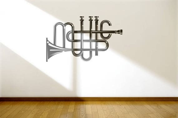 Music Typography Wall Decal | Decals for Music enthusiasts, Musicians or just plain Music lovers | Music Instrument | Music Player