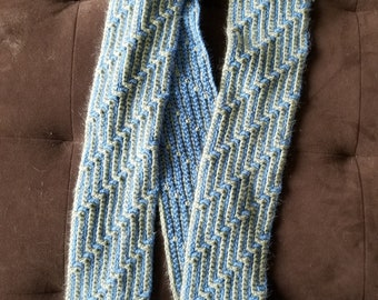 Adult Stair Stitch Scarf