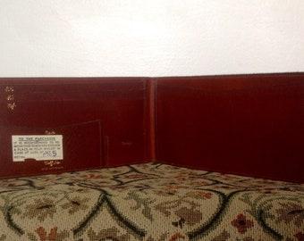 Vintage Calfskin Wallet. Men's Brown Wallet, As New. 1950's/60's.