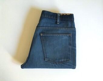 Vintage Men's 70's Jeans, Medium Wash, Straight Leg, Denim by JC Penney (W32xL30)