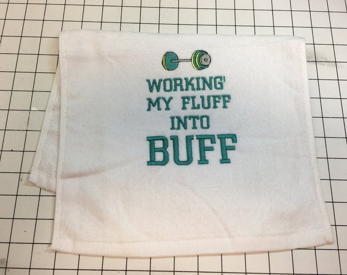 Gym towel with BUFF, Custom Gym towel, Personalized, workout towel, sweat towel, exercise towel, sport towel, exercise gift,