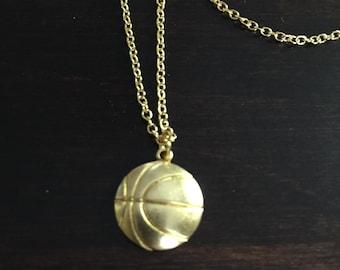 basketball necklace, basketball, gold basketball necklace, basketball pendant, basketball jewelry, gold necklace, necklace, jewellery