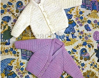 knitting pattern, pdf, digital download, baby, toddler, cardigan sizes 18-24 in