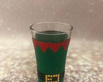 Christmas elf shot glass
