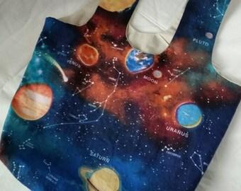 Space shopping bag / hobo bag