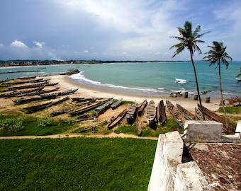 A view from Elmina Castle in Ghana