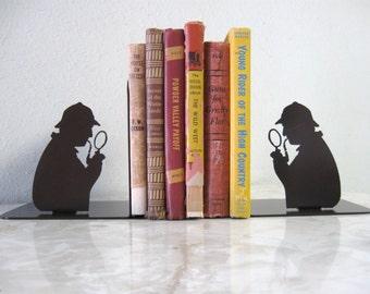 Sherlock Holmes, Detective, Investigator, Metal Art Bookends
