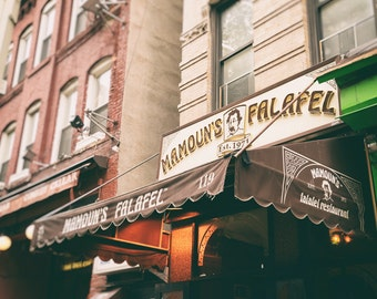Mamoun's Falafel, New York Restaurant, Greenwich Village, West Village, NYU, New York Print, Kitchen Decor, Wall Art
