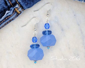 Wedgewood blue earrings