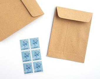 Small Kraft Envelopes Mini Manilla Envelopes Seed Favor Packets 10.3cm x 7.6cm