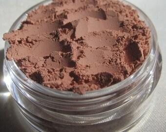Brick Brown Powder Blush | Carmine Free | Semi-Matte | Cruelty-Free | Mineral Loose Pigments | Blush or Eye Shadow - Adobe