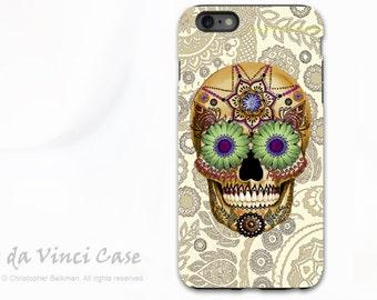 Apple iPhone 6s Plus Case - Sugar Skull Bone Paisley - Day of the Dead iPhone 6 Plus / 6s Plus case - Premium dual layer tough case