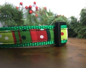 Christmas Dog Collar Medium - Christmas Collars for Dogs - Christmas Pet Collar - Holiday Collar -Christmas Collar Boy Dog Collar Christmas