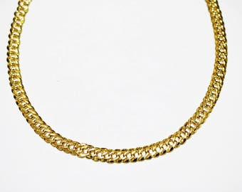 Fabiola 16K Gold Plated Choker ~ Gold Choker ~ Gold Chain Choker ~ Layering Necklace ~ Gold Necklace ~ Gold Chain Necklace