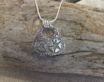 Sand Dollar Fine Silver Pendant