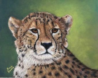 Cheetah, Original Pastel Painting