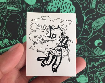Skeleton Cat Sticker