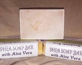 Shea Soap Bar with Aloe Vera