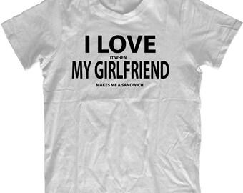 Make Me A Sandwich Tshirt Mens Birthday Gift Present Love My Girlfriend shirt Boyfriend Partner T-shirt