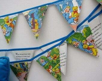 Vintage book bunting - Andy Pandy (puppy)