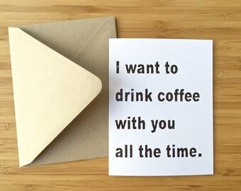 Awkward love card. funny card anniversary card awkward card