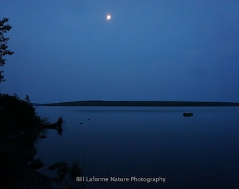 Peaceful evening at a Quebec lake: 11x14 matted and signed photo