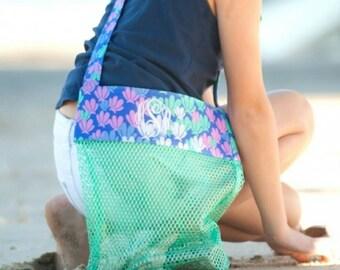Mermaizing Shell Tote - Mermaid Beach Bag - Kids Shell Tote  - Beach Bag - Shell Tote - Mermaid Party - Girl Birthday - Mermaid Birthday
