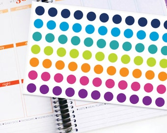 Planner Stickers Erin Condren Life Planner (ECLP) - 77 Plain Color Half Inch Stickers (#5000)