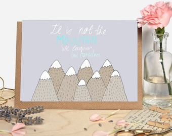 Motivational Mountain Quote Greeting Card
