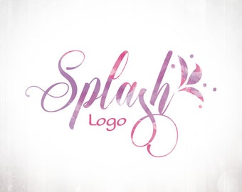 Premade Logo Design • Floral Splash
