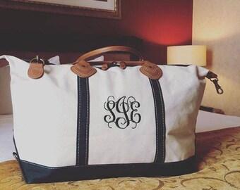 Monogram Canvas & Leather Weekender Bag