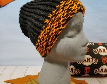 San Francisco Giants Hand Knit Hat, Beanie, Slouchy- SF-012