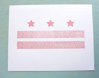 DC Flag Neighborhood Print