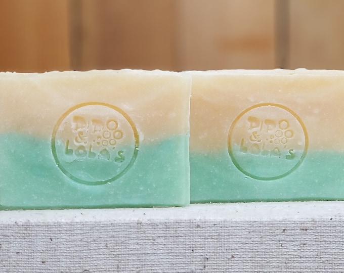 "Cucumber Melon Scented Soap ""Rosalind"" Soap Goddess Loves Shakespeare Soap, handmade vegetarian, lightly scented, yogurt soap, free shipping"