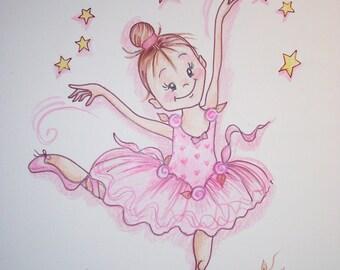 Ballerina Ballet Theme- Art Print - 8.5 x 11