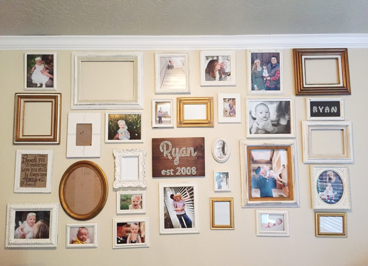 Gallery wall design gallery wall picture frame set rustic zoom jeuxipadfo Gallery