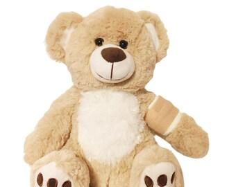 Cream Cast Broken Arm Higgy Bear