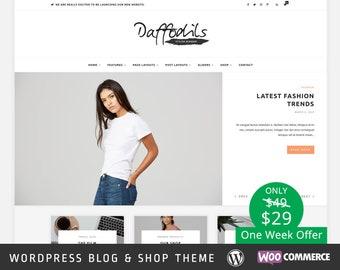 Daffodils Wordpress theme - Wordpress Template - Responsive WordPress Blog Theme - Shop Template - WooCommerce - Fashion - Photography
