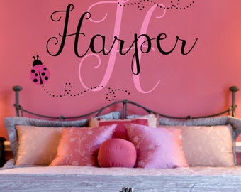 Ladybug Name Decal - Ladybug Nursery - Girl Bedroom