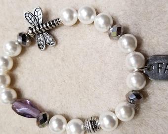 Domestic Violence Awareness bracelets Butterfly