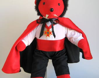 Vintage Vampire Dracula North American Bear Company Very Important Monsters Stuffed Animal Teddy Bear Doll Barbara Isenberg Designs Plush
