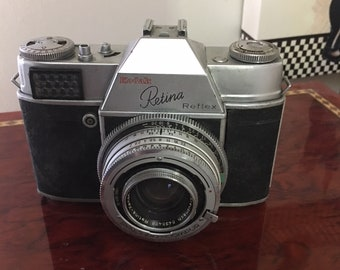 Kodak Retina 35mm Camera with case.  No additional information available.