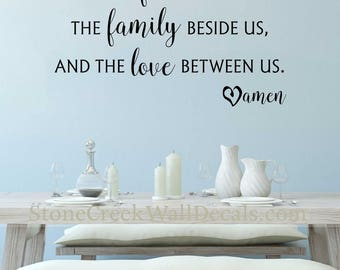 Bless The Food Before Us Wall Decal Kitchen Dining Room Vinyl Family