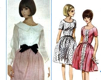 Butterick 3889 Vintage 60s Sewing Pattern for Misses' Dress - Uncut - Size 16 - Bust 36