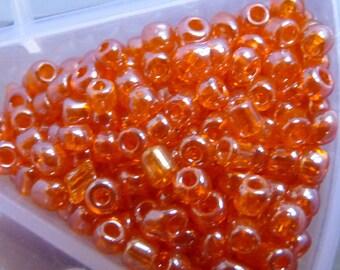 ORANGE autumn set 30 g of seed beads