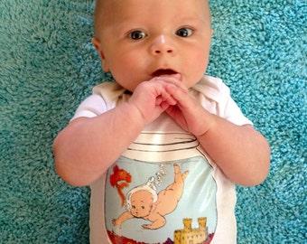Vintage Baby Zodiac PISCES Onesie
