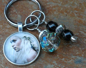 Mother of Dragons; Game of Thrones Keychain; Daenerys Targaryen; Targaryen Keychain; Game of Thrones Gift; GOT Accessory