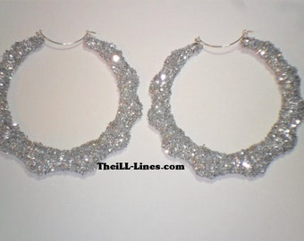 Bling Collectioin Bamboo Earrings Silver Buy 1 Get 1 Free & Free Shipping